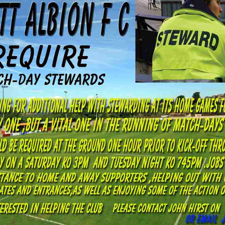 Stewards needed