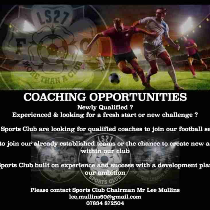 LS27 Coaching Opportunities