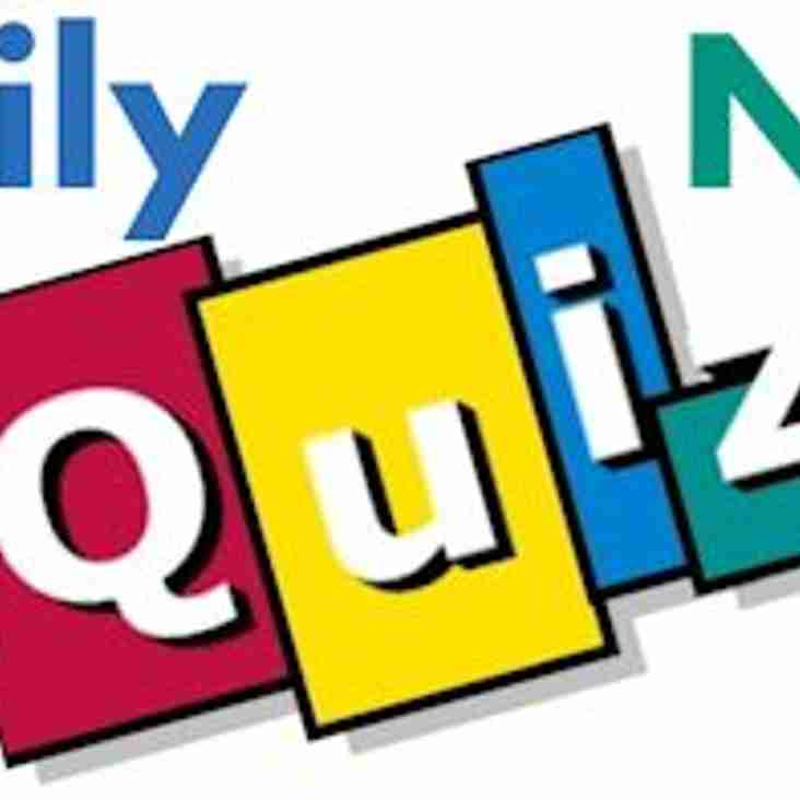 Family Quiz Night to raise funds for the club.