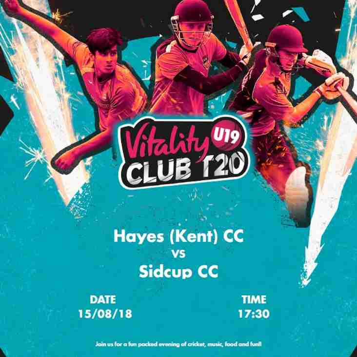 TONIGHT!  T20 - Hayes U19 v Sidcup