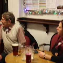 Christmas lunch - and a tiny smattering of the game against Manor (Photos by Molly)