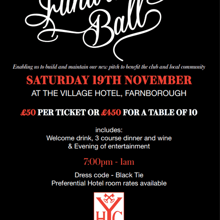 YHC Grand Ball 2016 - Saturday 19 November 2016