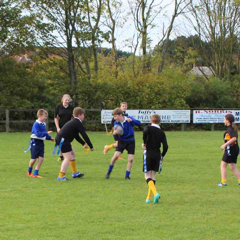 School KS3 Tag Rugby Festival.  10th October 14