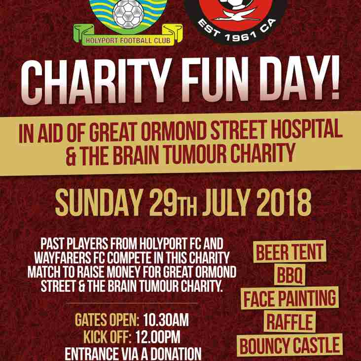 29th July - Club Charity Day