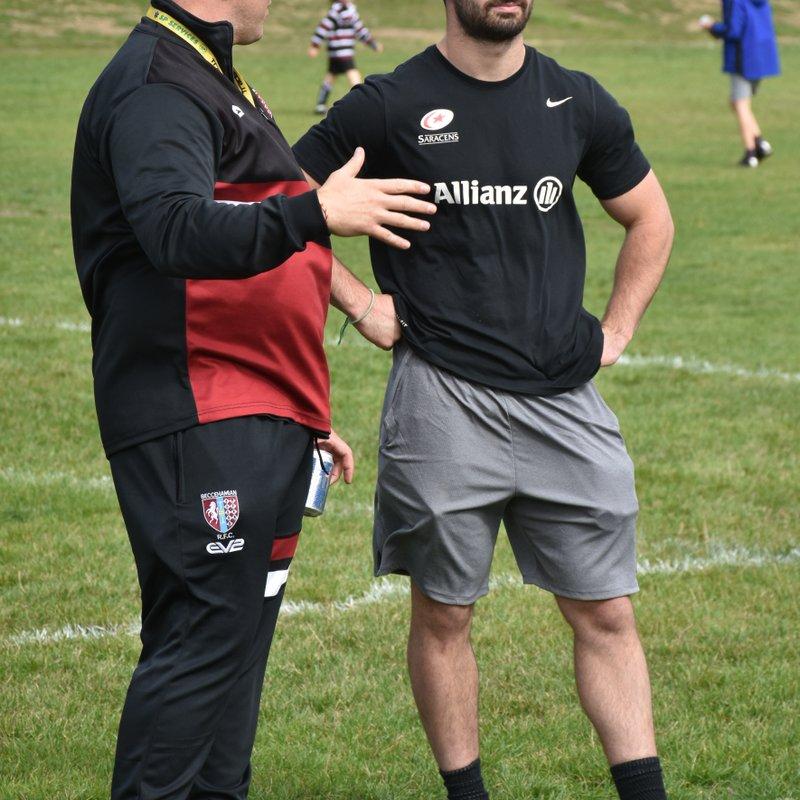 Saracens Academy player visits Beccs