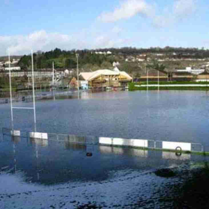 Kestrels Off - Waterlogged Pitch