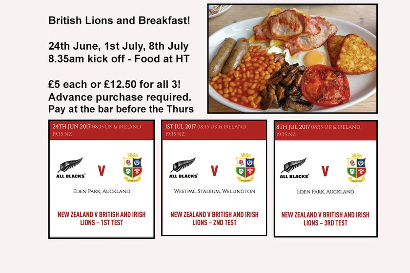 Lions Tests and Lion Size Breakfast