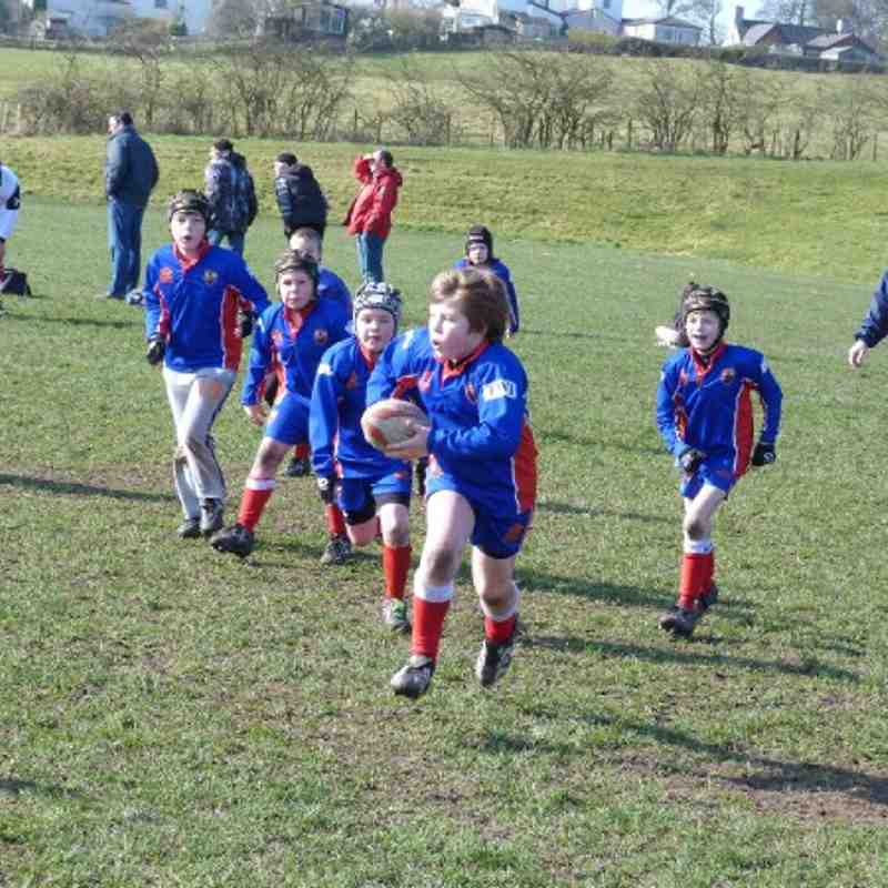 Under 9's Battle it out against Warrington