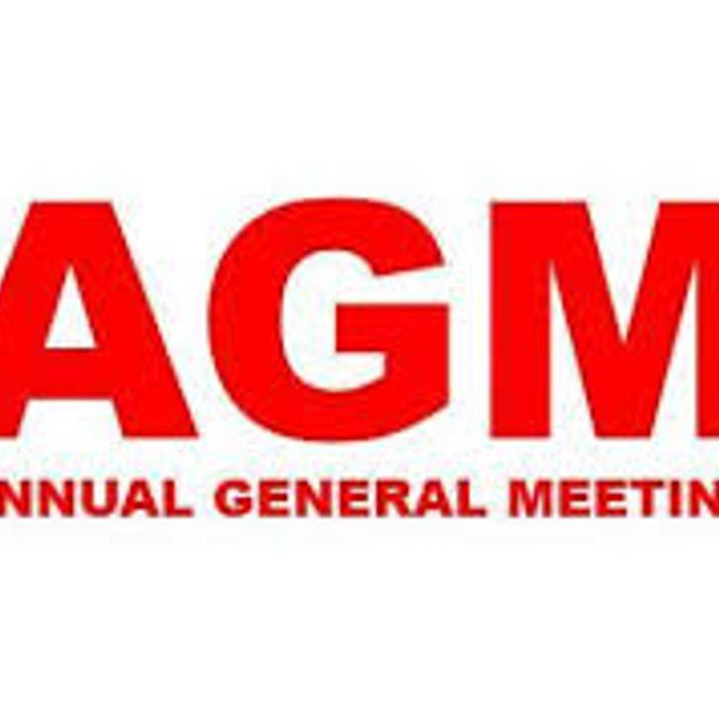 Club AGM - Tuesday 25th April at 7pm