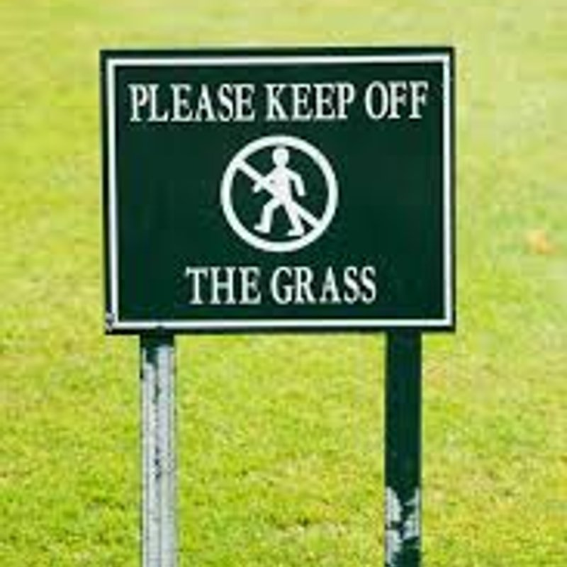 1st Team Pitch - Keep off the Grass