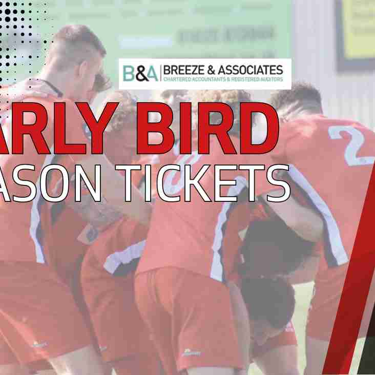 Early Bird Season Ticket Offer Open - Now!