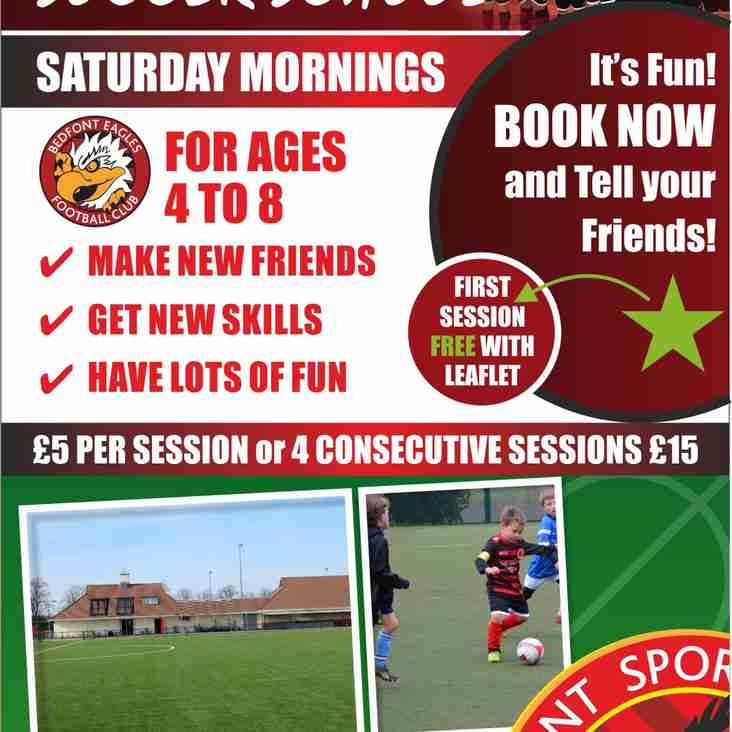 Soccer School every Saturday morning