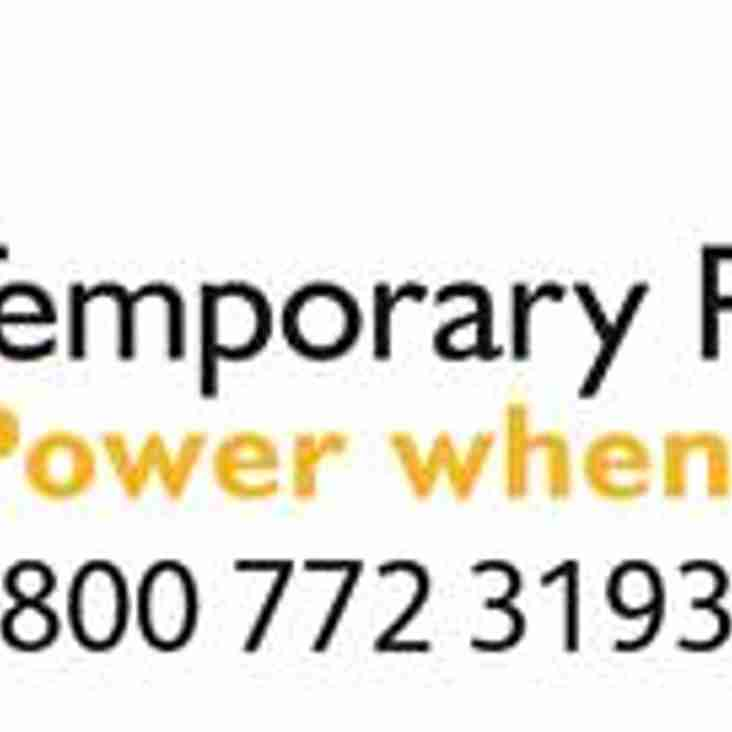 Temporary Power Solutions agree sponsorship deal with Bedfont Sports