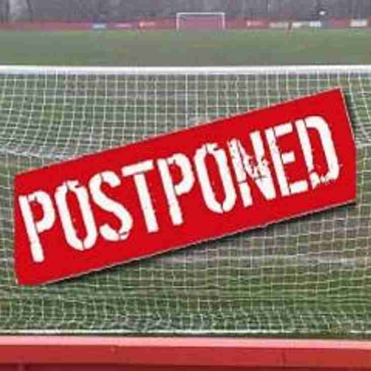 RESERVE TEAM MATCH POSTPONED
