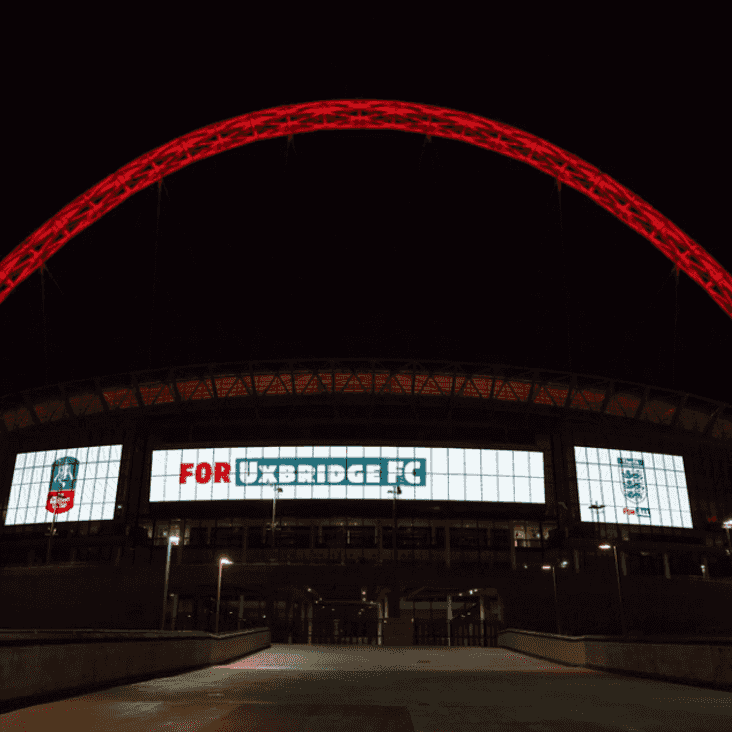 WEMBLEY STADIUM LIGHTS UP FOR UXBRIDGE FC