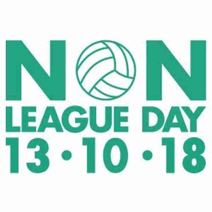 NON LEAGUE DAY 2018 ANNOUNCED