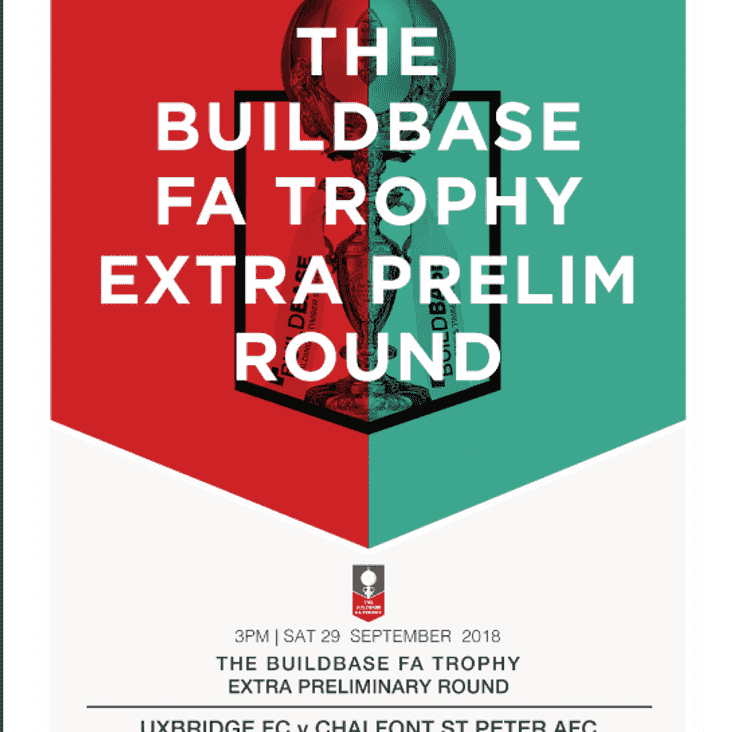 BUILDBASE FA TROPHY - SATURDAY 29TH SEPTEMBER - 3PM KICK OFF