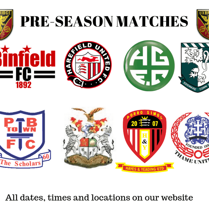 PRE SEASON MATCHES ARRANGED