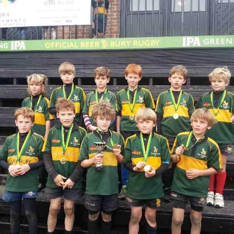 Bury Festival U9 Trophy winners