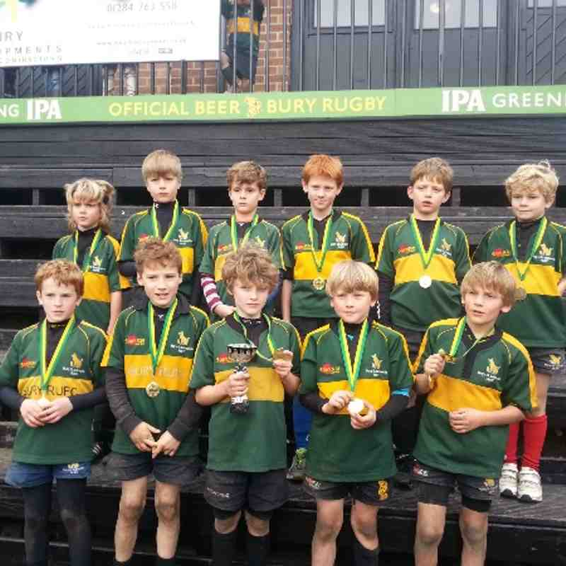 Bury Festival U9 Trophy winners