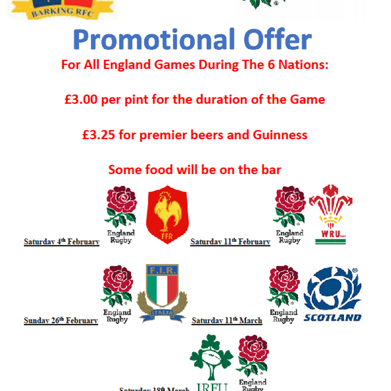 6 Nations Special Offers