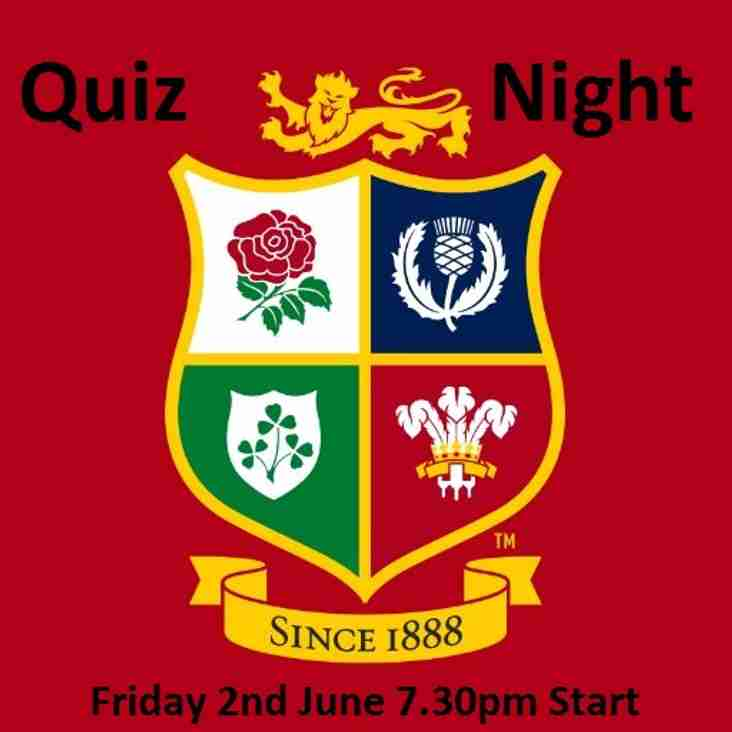 *Cancelled* Lions Quiz Night