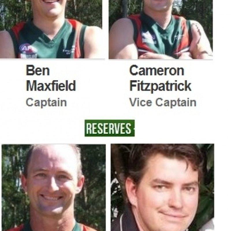 2014 Seniors & Reserves Captains & Vice Captains