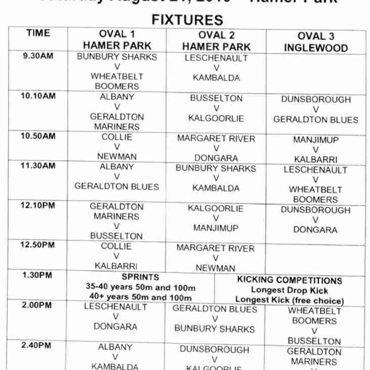 Perth carnival fixtures released