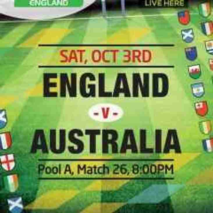 Saturday 03 Ocotober RWC 2015 D-Day for England