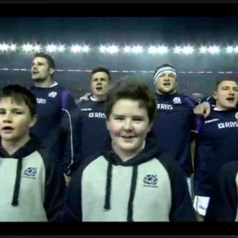 Finlay Hamilton Scotland Team Mascot Versus Australia