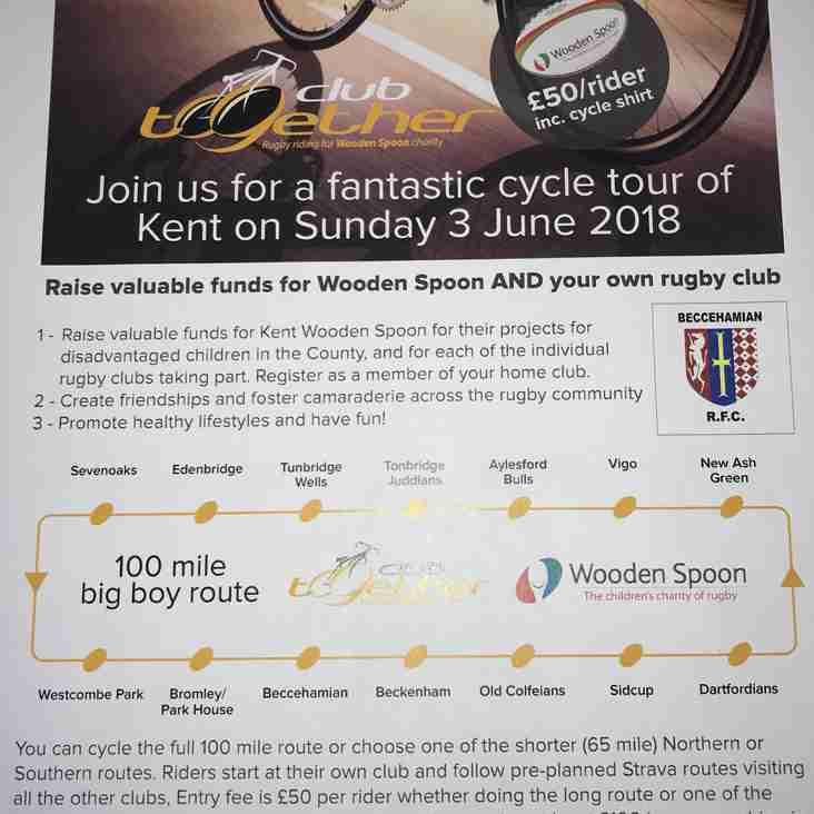 Beccs cycle ride & fundraising Sunday 3 June 2018