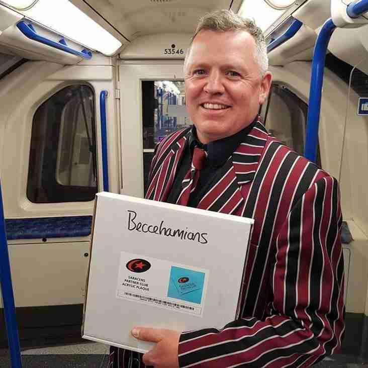 "Beccs awarded Saracens Partner Club ""Silver Status"""