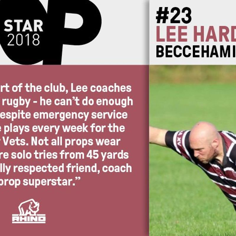 Beccs mini chairman Lee Harding nominated for Rhino Rugby's #PropStar
