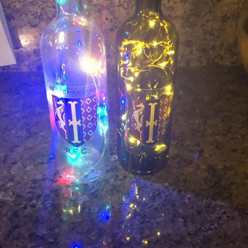 Beccs Bottle lights for sale supporting Brain Tumour Charity