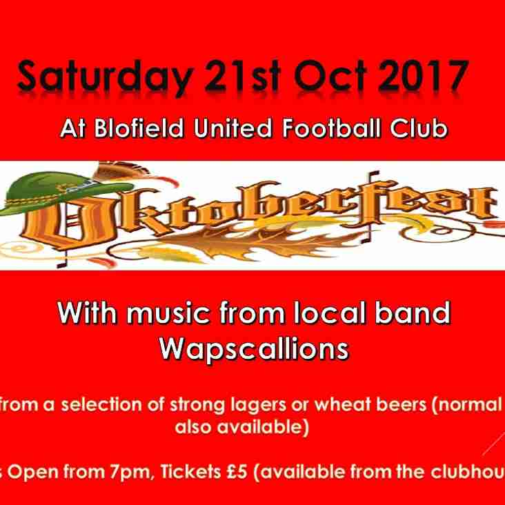 Oktoberfest & Wapscallions - THIS SATURDAY