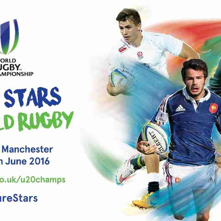 World Rugby U20 Championship 7th - 25th June 2016 in Manchester.