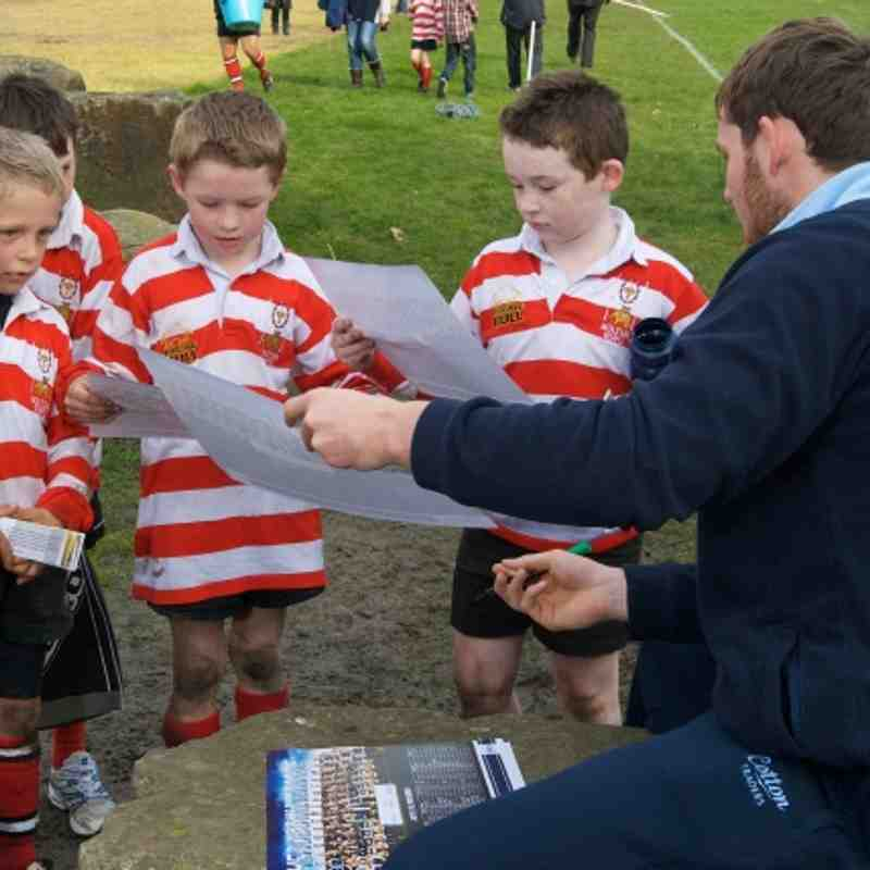 Dan Hall of Sale Sharks visits Bolton RUFC