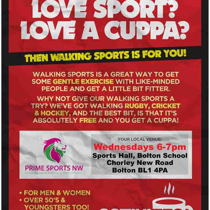 Walking Sports every Wednesday 6-7pm