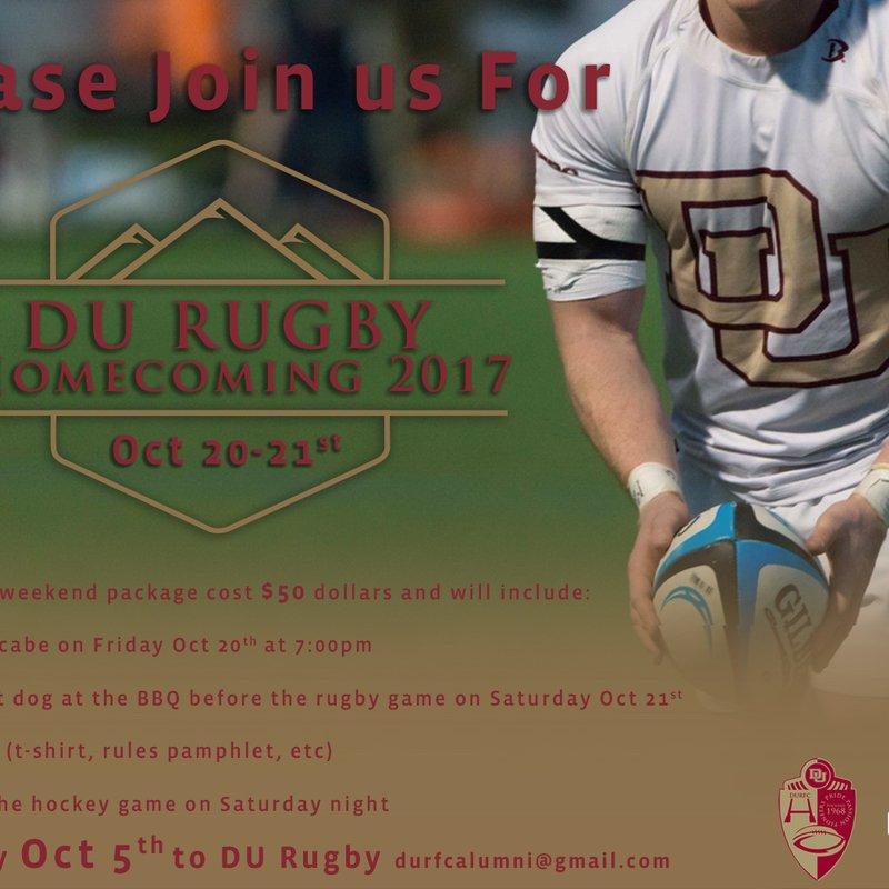 DU Rugby Alumni - Homecoming Weekend Details Update