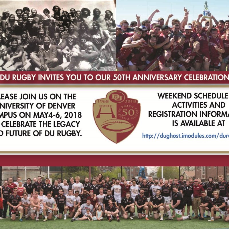 DU Rugby releases 50th Anniversary Celebration Information & Registration