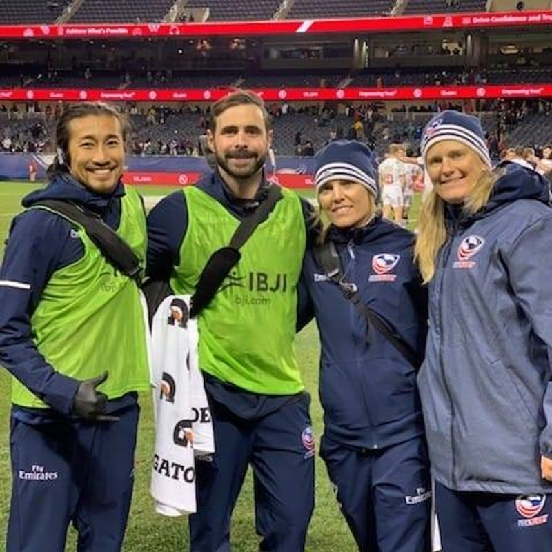 DU Rugby Medical Coordinator Amie Kern supports USA Rugby