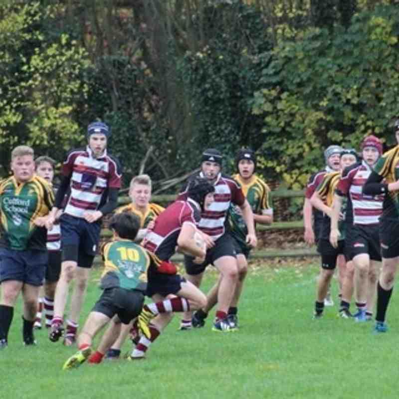 Bury Under 16s vs. Hadliegh 8 Nov 2015