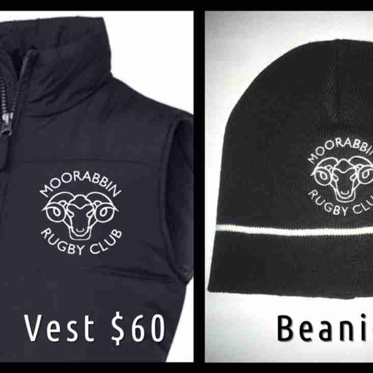 New Vests and Beanies available