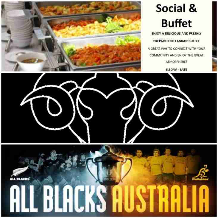 Bledisloe Cup and Buffet this Saturday