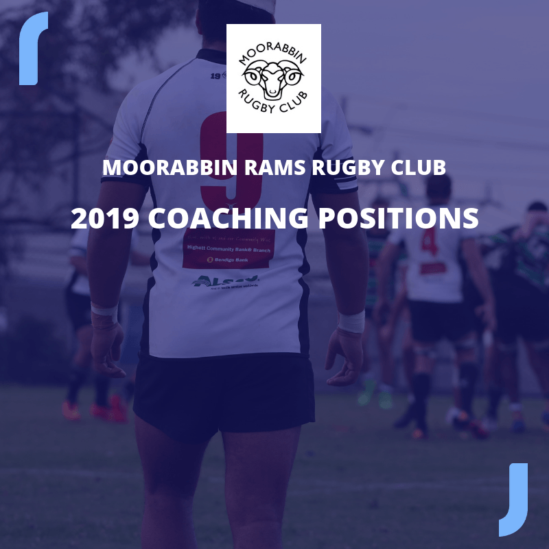 2019 Senior Coaching Positions