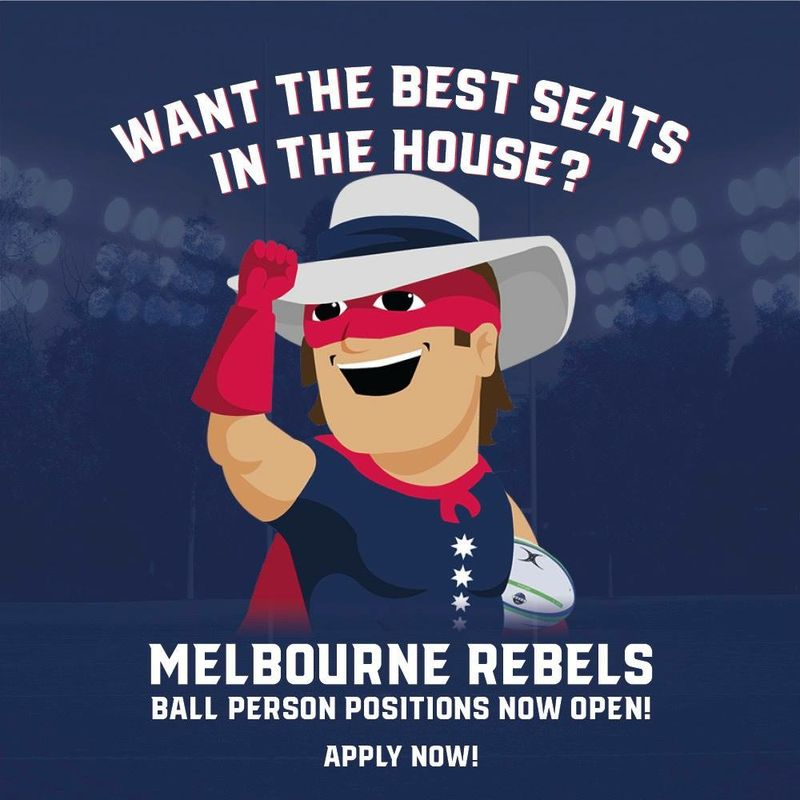 2019 Melbourne Rebels Ball Person Positions