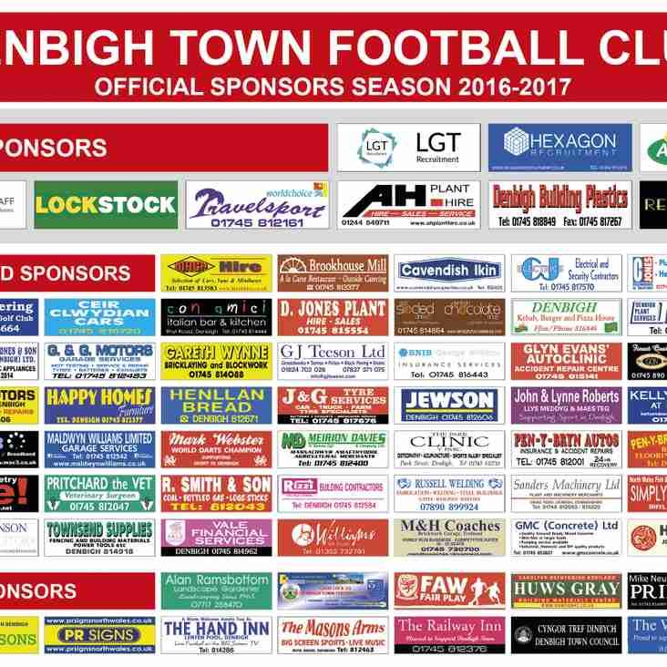 Club Sponsors 2016 2017