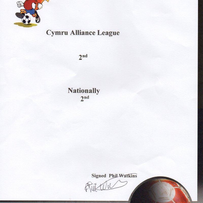 Soccer Club Swap Shop Programme Awards.