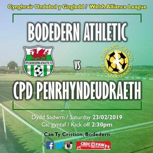Bodedern Athletic 3-0 CPD Penrhyndeudraeth