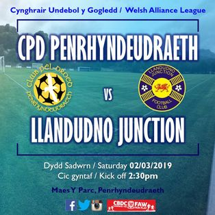 CPD Penrhyndeudraeth 8-0 Llandudno Junction